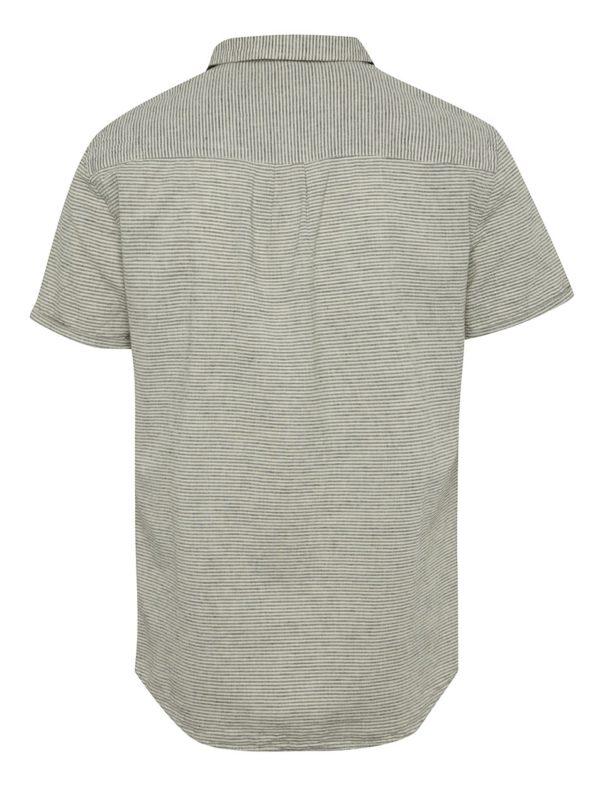 Krémová pruhovaná košeľa s krátkym rukávom Blend