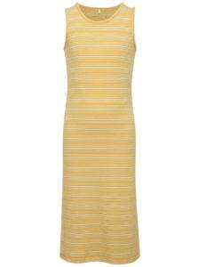 Bielo-žlté dievčenské pruhované dlhé šaty name it Jisola