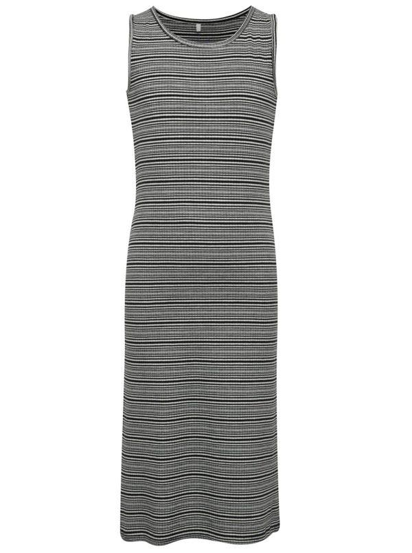 Bielo-čierne dievčenské pruhované dlhé šaty name it Jisola