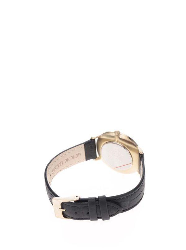 Dámske pozlátené hodinky s koženým remienkom Pilgrim