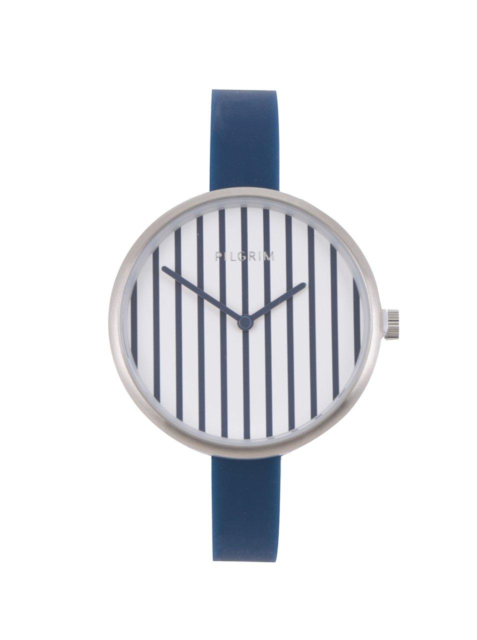 Dámske postriebrené hodinky so silikónovým remienkom Pilgrim  068ac5d6d5e