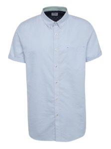 Svetlomodrá vzorovaná košeľa s krátkym rukávom Burton Menswear London