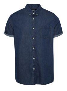 Modrá rifľová košeľa s krátkym rukávom Burton Menswear London