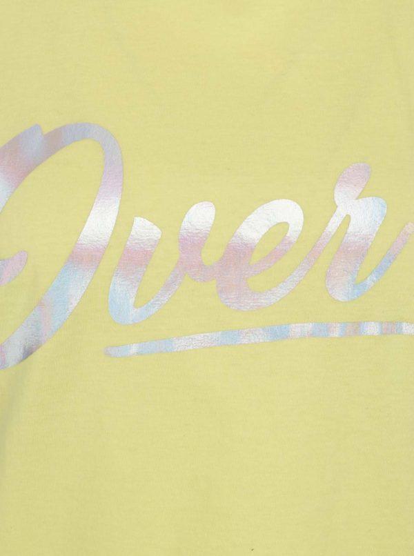Žlté tričko s potlačou Miss Selfridge