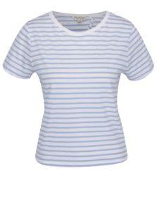 Modro-biele pruhované tričko s rozparkom Miss Selfridge