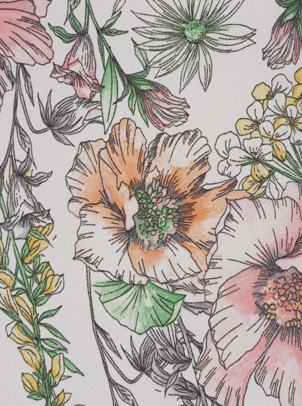 Biela blúzka s kvetovanou potlačou Dorothy Perkins Petite