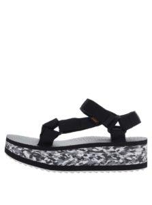 Čierno-biele dámske sandále na platforme Teva