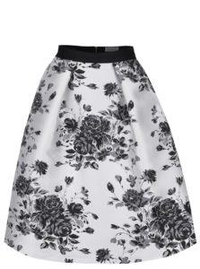 Čierno-krémová kvetovaná sukňa Closet