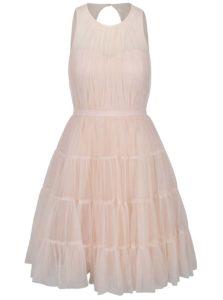 Ružové šaty s priesvitným dekoltom Little Mistress