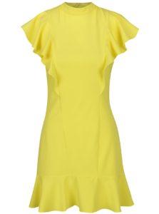 Žlté šaty s volánmi a so stojáčikom Closet