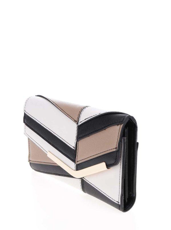 Hnedo-krémová peňaženka Dorothy Perkins