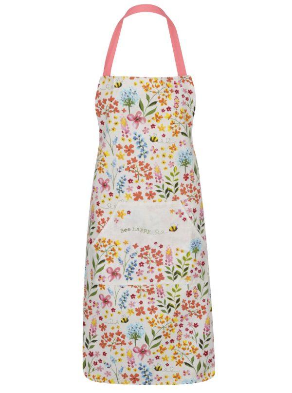 Ružovo-krémová kvetovaná zástera Cooksmart