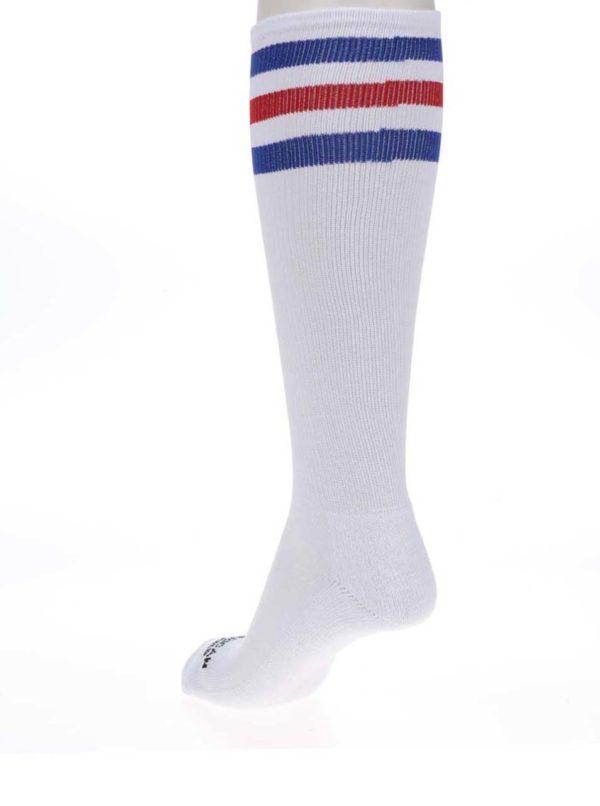 Biele unisex ponožky s pruhmi American Socks Pride