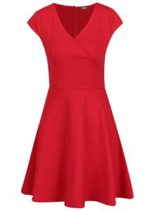 Červené šaty s prekladaným výstrihom ZOOT