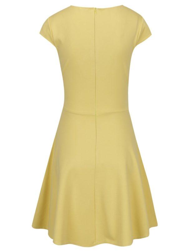 Žlté šaty s prekladaným výstrihom ZOOT