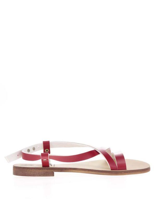 Červené sandále Snaha Rio 150