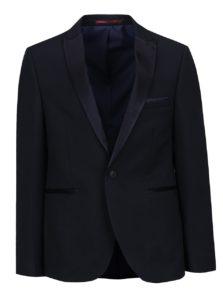 Tmavomodré oblekové skinny fit sako Burton Menswear London
