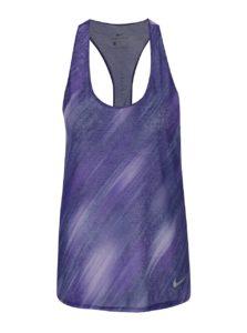 Fialové žíhané dámske funkčné tielko Nike