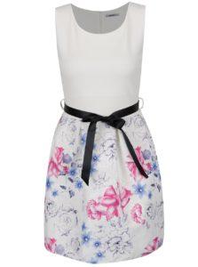 Krémové kvetované šaty Haily´s Sovia
