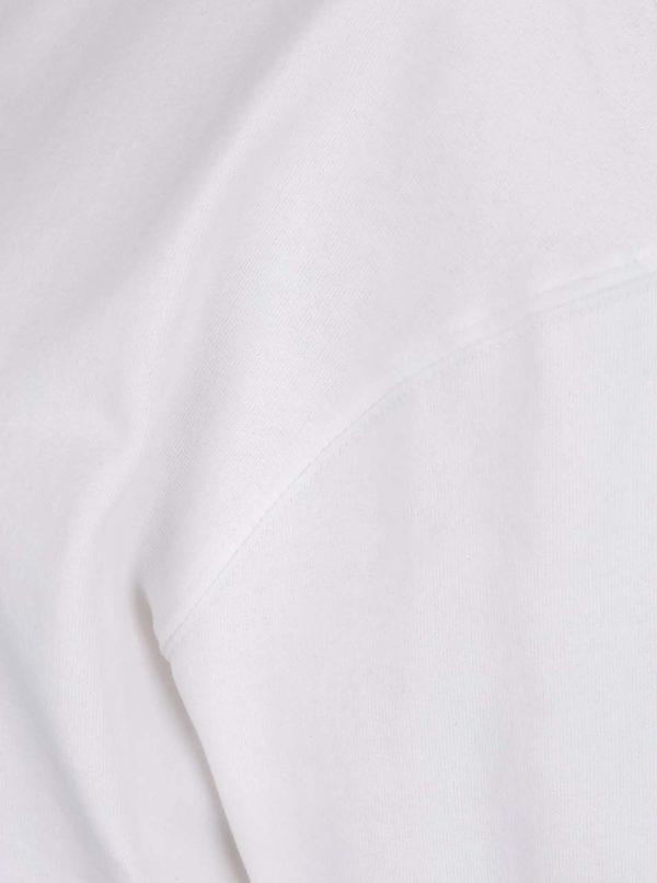 Biela mikina s nezačisteným spodným lemom Miss Selfridge