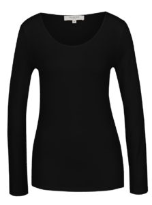 Čierne basic tričko s dlhým rukávom Selected Femme Mio
