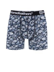 Čierno-modré pánske boxerky s potlačou Horsefeathers Sidney