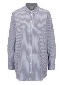 Bielo-modrá pruhovaná košeľa Selected Femme Cally