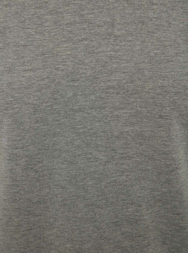 Sivé tričko s dlhým rukávom Jack & Jones Basic