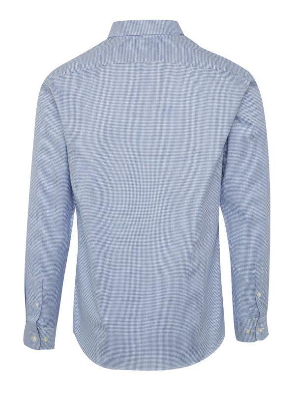 Modrá formálna kockovaná slim fit košeľa Selected Homme One New