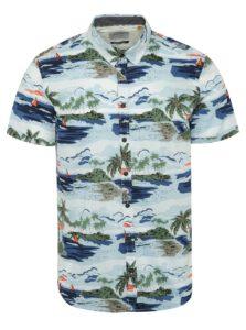 Bielo-modrá vzorovaná košeľa s krátkym rukávom Blend
