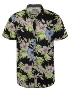 Zeleno-čierna vzorovaná košeľa Blend