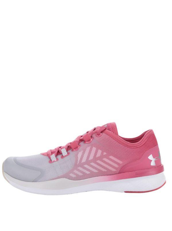 Sivo-ružové dámske tenisky Under Armour UA W Charged Push TR SEG