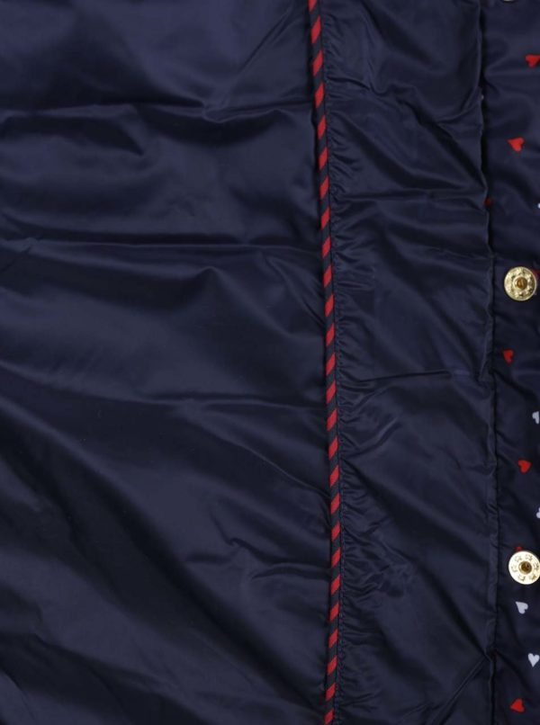 fa27eeca30e3 Tmavomodrá dámska vzorkovaná prešívaná bunda Tommy Hilfiger