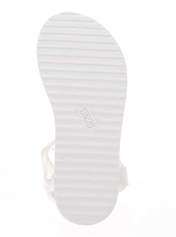 Biele dámske sandále na platforme Teva