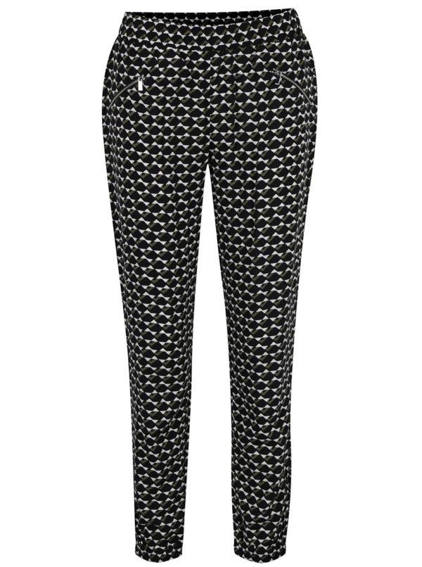 Čierne vzorované nohavice Dorothy Perkins