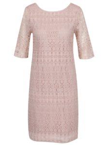 Staroružové čipkované šaty VILA Rosie