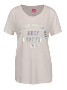 Svetloružové tričko s potlačou Juicy Coutre