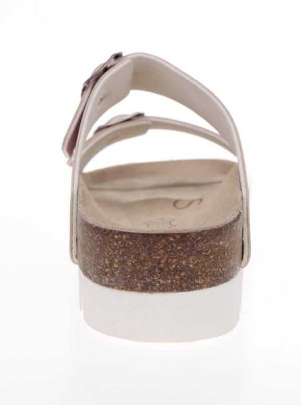 Červené lesklé dámske papuče Snaha Lima 160