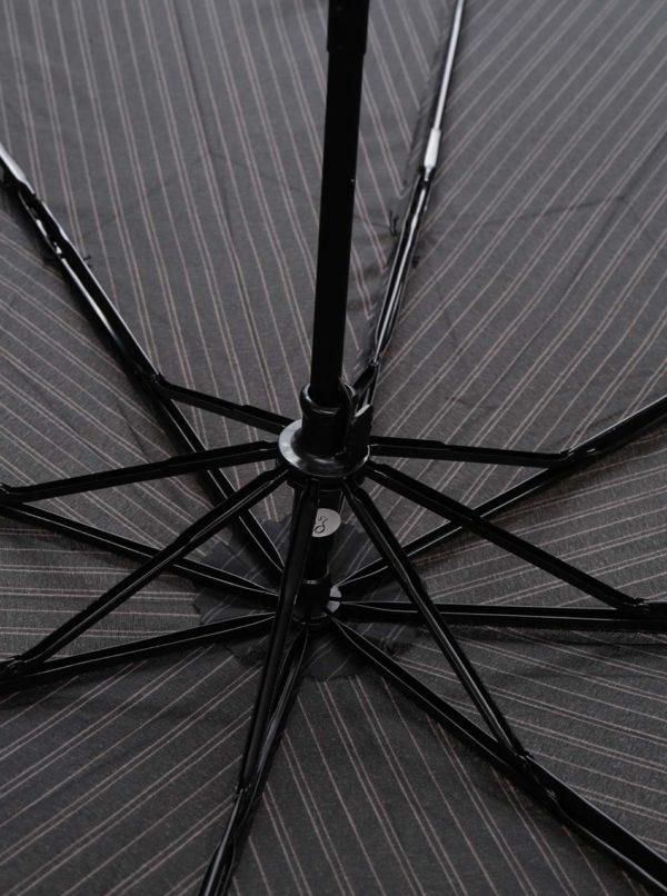 Čierny pruhovaný dáždnik Derby