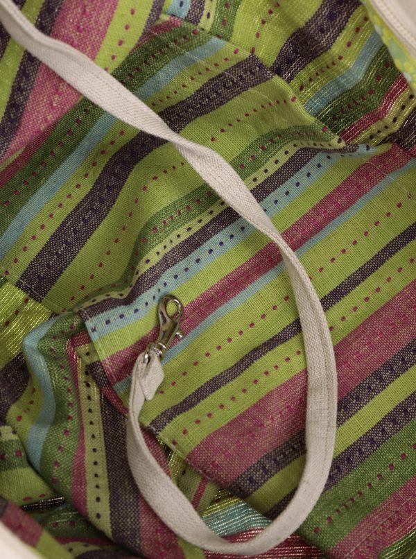 Zeleno-krémová sieťová taška Česká síťovka Switch Bag