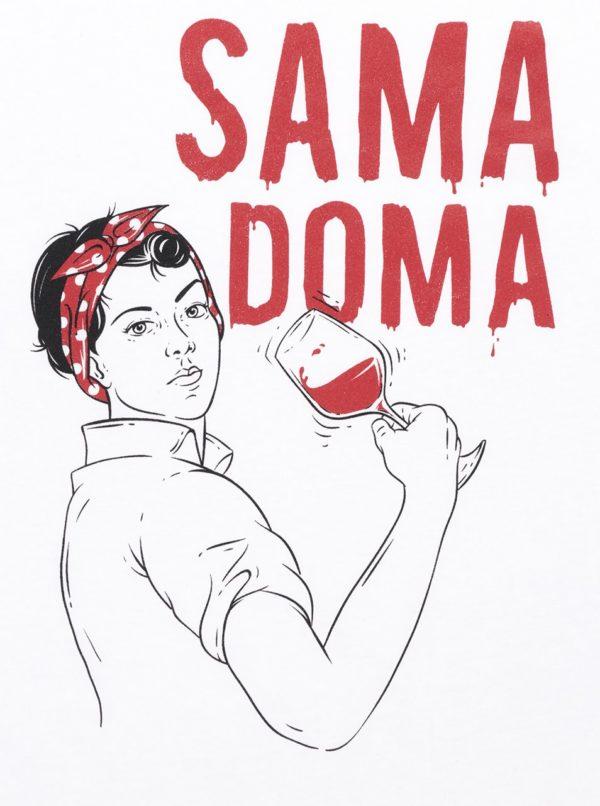 Biele dámske tričko ZOOT Originál Sama doma