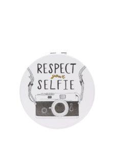 Krémové kompaktné zrkadlo s potlačou fotoaparátu CGB Respect