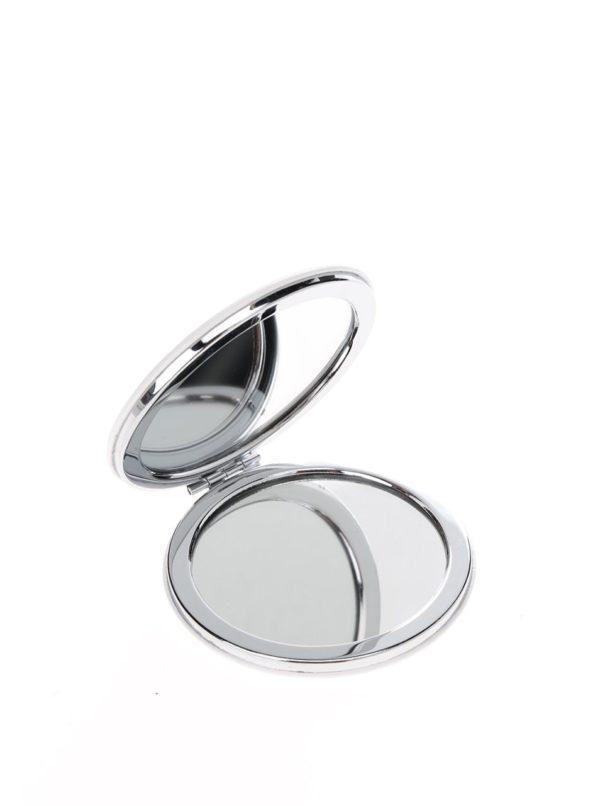 Biele kompaktné zrkadlo CGB Sassy