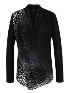 Čierny sveter so zipsom na ramene Desigual Adeline