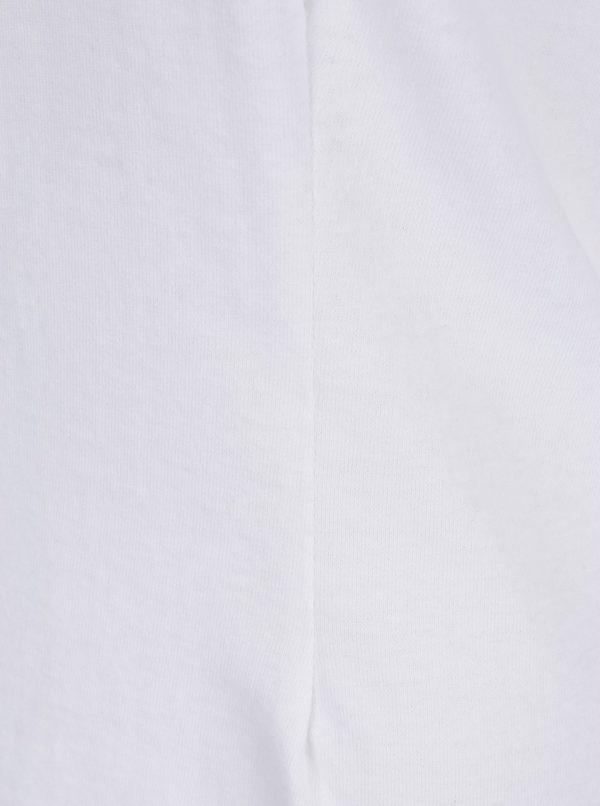 Biele basic tričko s vypchávkami na ramenách Miss Selfridge