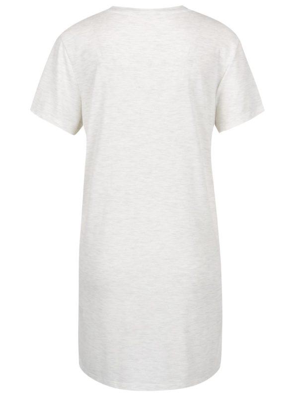 Sivé melírované dlhé tričko s potlačou Miss Selfridge