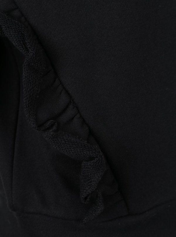 Čierna dievčenská mikina s volánmi LIMITED by name it Ramissa