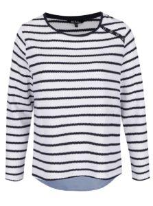 Modro-biely pruhovaný sveter so všitým dielom Ulla Popken
