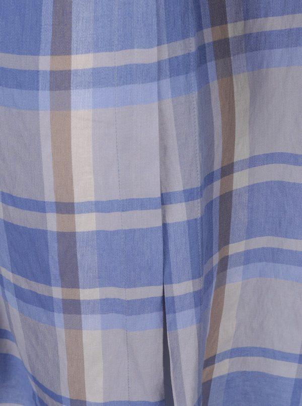 Sivo-modrá kockovaná tunika Ulla Popken