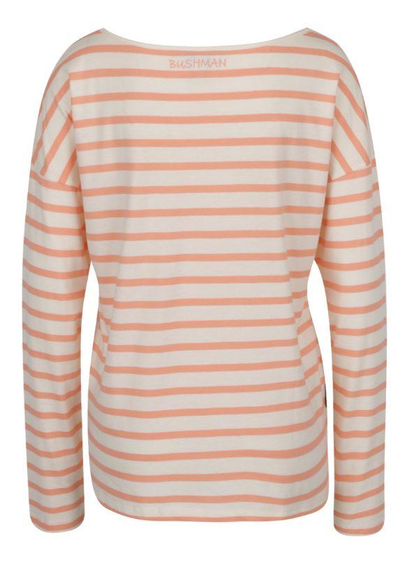 bb00fffd16d2 Oranžovo-krémové dámske pruhované tričko s lodičkovým výstrihom BUSHMAN  Sailora